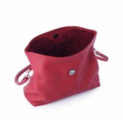 Sac Pochette bandoulière Rouge en cuir Femme Ripauste