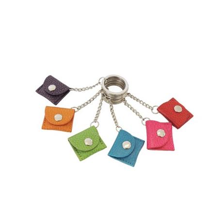 Porte-clés modèle jeton Caddie en cuir gamme Les Modernes