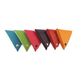 Porte-monnaie triangulaire en cuir gamme Tendance personnalisable