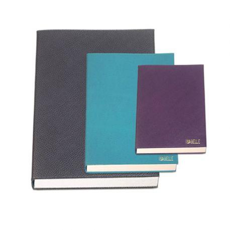 Carnet de notes grand format en cuir personnalisable